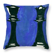 A King And Queen Throw Pillow