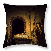 A King Is Born Throw Pillow
