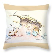 A Kiss For Baby Throw Pillow