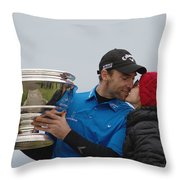 A Kiss For The Winner Throw Pillow