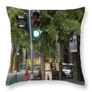A Kiss In Budapest Throw Pillow