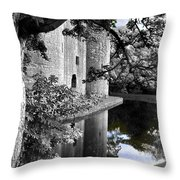 A Knight's Castle In Blue Throw Pillow