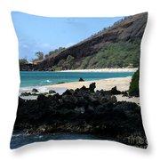 A L O H A  E Ala E Puu Olai Oneloa Big Beach Makena Maui Hawaii Throw Pillow