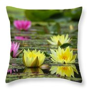 a la Monet Throw Pillow