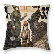 A La Tour St.jacques - Rue De Rivoli - Vintage Fashion Advertising Poster - Paris, France Throw Pillow