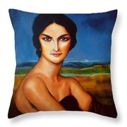 A Lady Throw Pillow