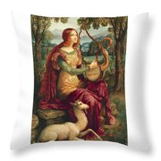 A Lady With A Unicorn Throw Pillow