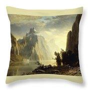 A Lake In The Sierra Nevada Throw Pillow