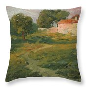 A Landscape In Vicinity Of Strijigorod Throw Pillow