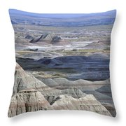 A Landscape Of The Badlands In South Throw Pillow