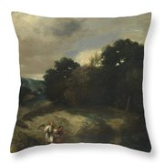 A Landscape With Tobias And The Angel Throw Pillow