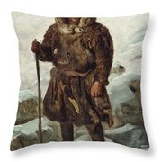 A Laplander Throw Pillow