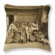 A Large Collection Of Photographs Throw Pillow