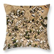 A Large Sahelian Town In Western Mali Throw Pillow