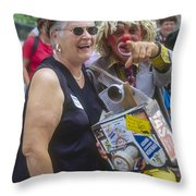 A Laugh In The Park Throw Pillow