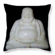 A Laughing Buddha Brings Good Luck Throw Pillow