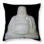 A Laughing Buddha Brings Good Luck Throw Pillow