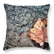 A Leaf's Bow Throw Pillow