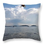A Leap To Freedom Throw Pillow
