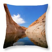 A Leisurely Paddle Throw Pillow