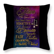 A Libra Is Throw Pillow by Mamie Thornbrue