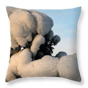 A Lick Of Snow On The Bush Throw Pillow