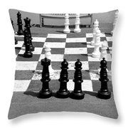 A Life Time Game Of Chess Throw Pillow by Danielle Allard
