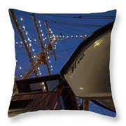 A Lifeboat Named Maria Boston Tall Ships 2017 Lighted Mast Boston Ma Throw Pillow