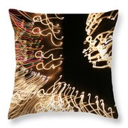 A Light Abstraction Throw Pillow