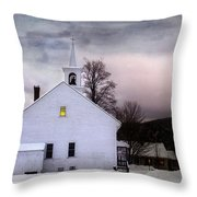 A Light In The Old Church Throw Pillow