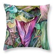 A Light In The Garden Throw Pillow