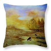 A Little Is Enough Throw Pillow