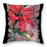 A Lily Fresco Throw Pillow