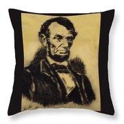 A. Lincoln Throw Pillow by Mimi Eskenazi