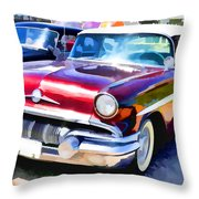 A Line Of Classic Antique Cars 9 Throw Pillow