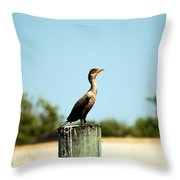 A Little Bird Throw Pillow