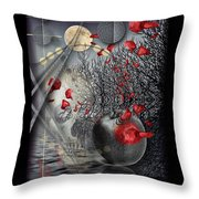 A Little Bit Of Death Between The Worlds Throw Pillow by Mimulux patricia no No