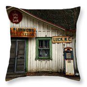 A Little Bit Of Luck Throw Pillow