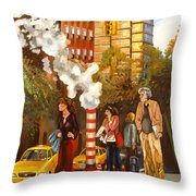 A Little Bite Of The Big Apple Throw Pillow