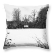 A Little Cabin In The Woods  Throw Pillow