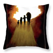 A Little Child Will Lead Them Throw Pillow