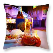 A Little Dab Will Do Yah. It's Sliced Throw Pillow