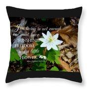 A Little Flower Throw Pillow