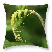 A Little Greenery Throw Pillow