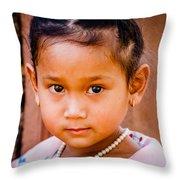 A Little Khmer Beauty Throw Pillow