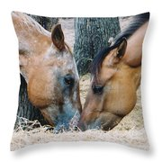 A Little Kiss Throw Pillow