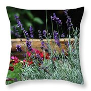 A Little Lavender Throw Pillow
