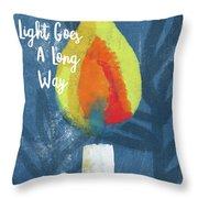 A Little Light- Art By Linda Woods Throw Pillow