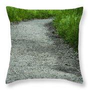 A Little Trail Throw Pillow