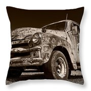 A Little Wear - Sepia Throw Pillow